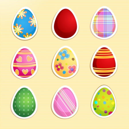 Set of colorful paper Easter eggs Stock Vector - 18512603