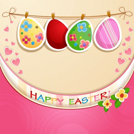 Easter greeting card with  Easter eggs Stock Vector - 18846887