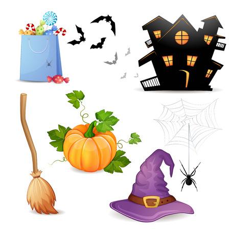 headwear: Set of Halloween elements   Illustration