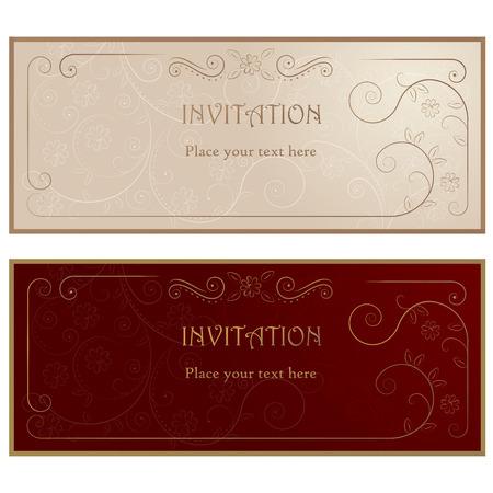 Invitation cards .