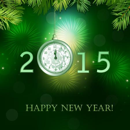 midnight hour: Happy New Year illustration . Illustration