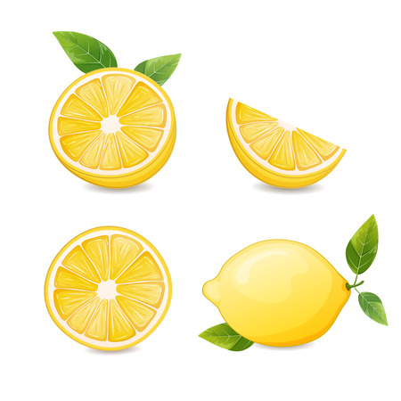 lemon slices: Lemons and lemon slices.