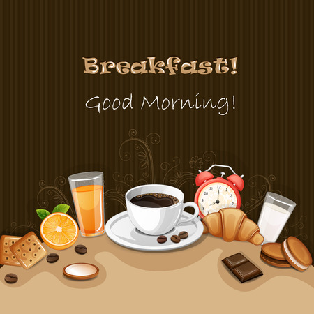 background coffee: Breakfast background with coffee ,croissant,biscuits and cookies.
