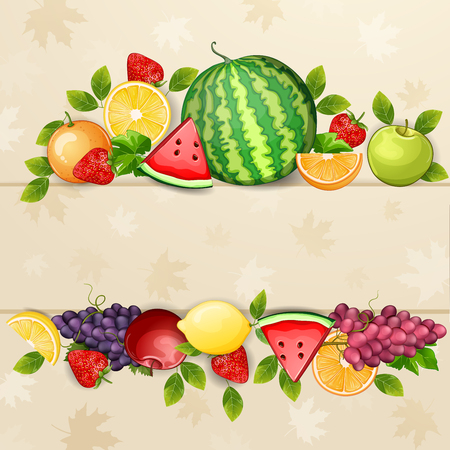 delicious: Delicious fresh fruits background.