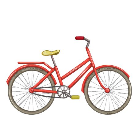 Bicycle isolated on white 向量圖像