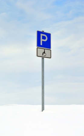disabled parking sign: Disabled parking sign. Stock Photo