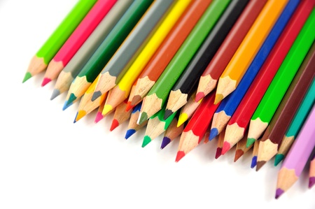 colourfully: Crayons Stock Photo