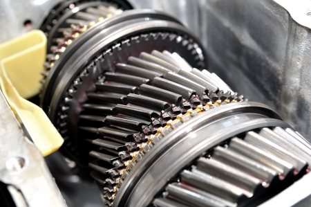 serrate: Car gear box sprocket  Stock Photo