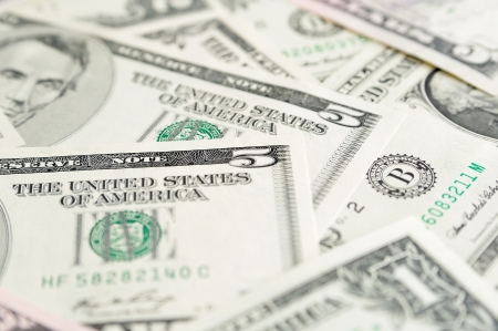 Dollar banknotes as background with selective focus Stock Photo - 17085966