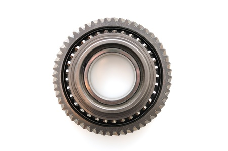 car transmission: Car gear box sprocket isolated on white background