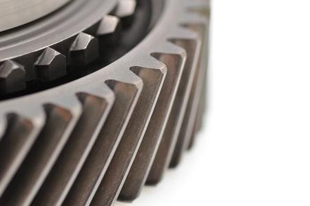 sprocket: Particolare di una ruota dentata isolato su sfondo bianco Archivio Fotografico