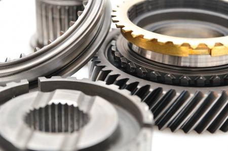 Car Getriebe Kettenrad isoliert auf weißem Hintergrund