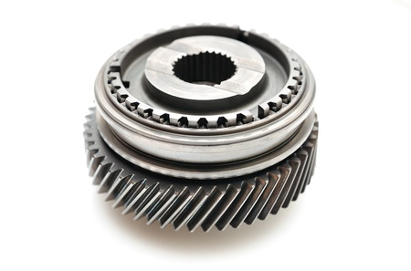 sprocket: Car gear box sprocket isolated on white background