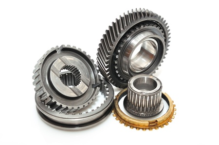 serrate: Car gear box sprocket isolated on white background