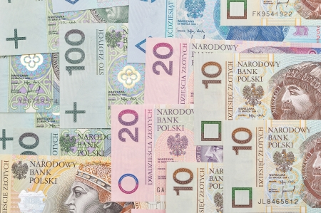 Background of polish paper money  photo