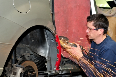 Car body worker  photo
