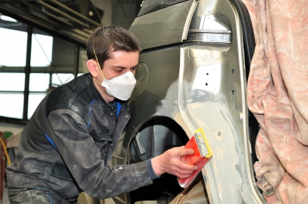Car body worker  photo