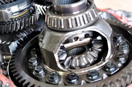 Differential from car gear box