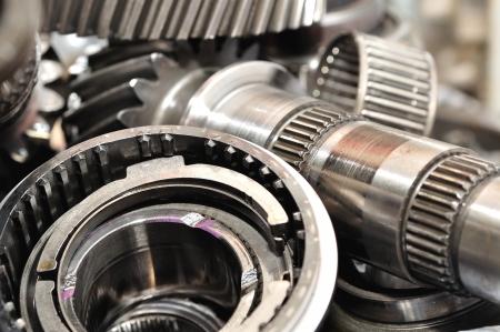 Stack of  gearbox parts  Reklamní fotografie