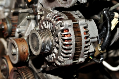 Old used car alternator