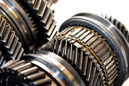 gearbox: Gears from a car gearbox  Stock Photo