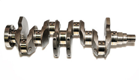Crankshaft on white background