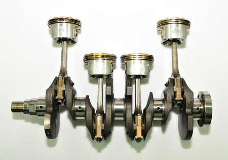 crankshaft: Crankshaft on white background