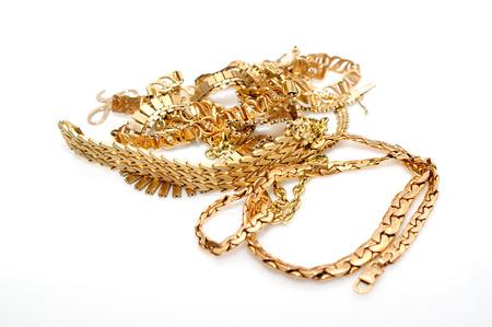 tresure: Jewelry isolated on white background  Stock Photo