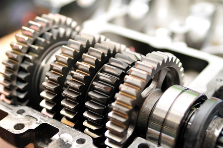 spare parts: Gears from a motorcycle gearbox