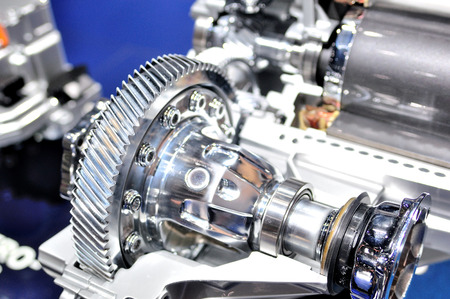 gearbox: Cross section of car gearbox. Stock Photo