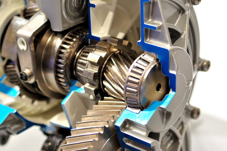 gearbox: Cross section of a gearbox.