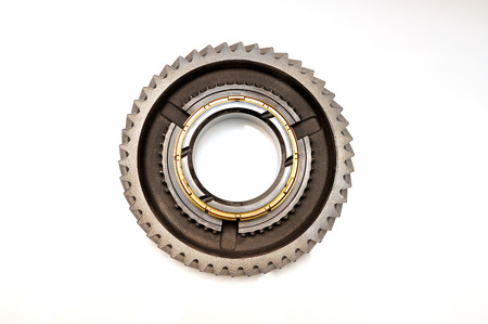 serrate: Single gearisolated on white background.