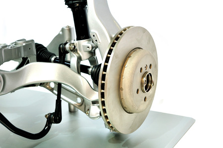 pneumatic tyres: Car suspension with a disc brade with selective focus.