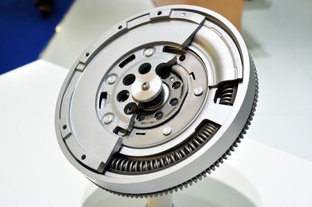 flywheel: Cross section of a dual mass flywheel.