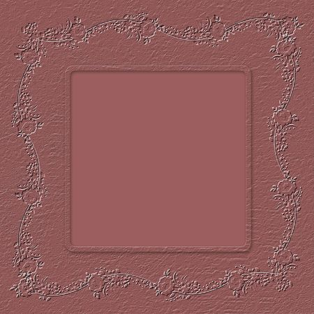 claret: Grunge paper in scrapbooking style with floral ornament Stock Photo