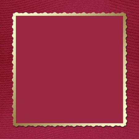 claret: Postcard-invitation to the claret background