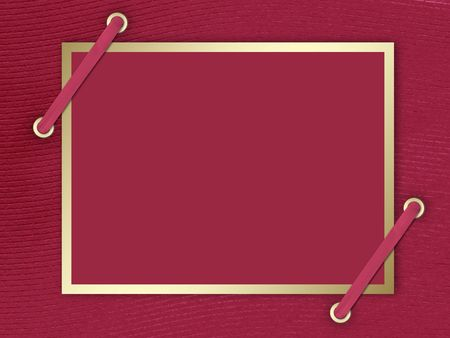 braid: Postcard-invitation to the claret background