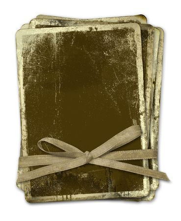 gilding: Grunge papers design in scrapbooking style with bow.