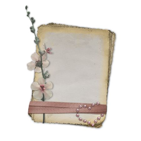 Grunge papers design in scrapbooking style with flower. photo