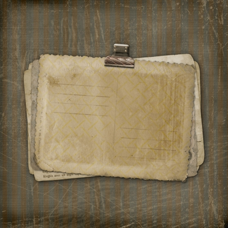Grunge papers design in scrapbooking style on the striped background photo
