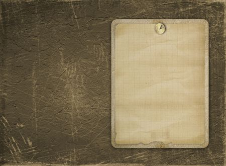 thumbtack: Old invitation with thumbtack on the grunge background