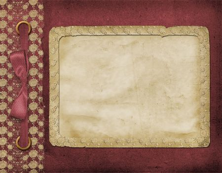 vinous: Framework for a photo or invitations. A vinous bow. A beautiful background. Stock Photo