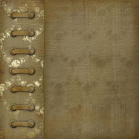 ornamente: Grunge cover for an album with photos Stock Photo