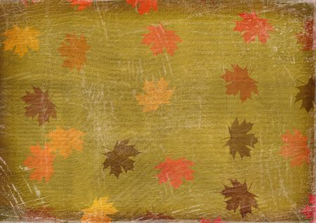 leafage: Old paper in grunge style. Abstract  background