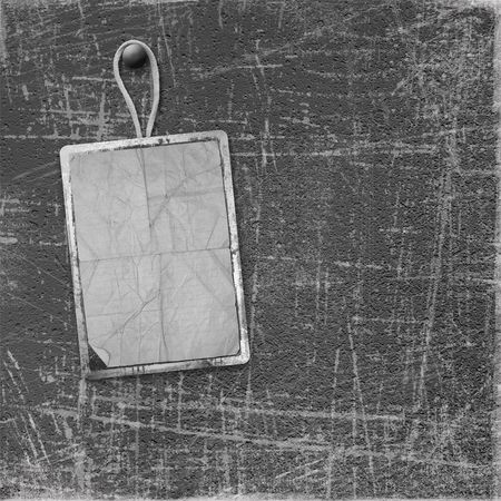 thumbtack: Old frame on the grunge scratch background Stock Photo