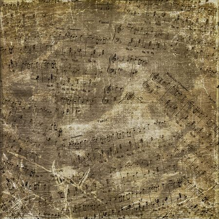 Abstract background with the music notes