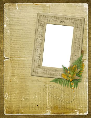 ornamente: Framework for a photo or invitations with autumn leaves