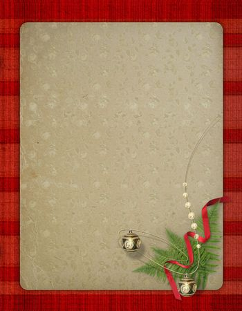 The old grunge postcard. Congratulation to Christmas or  New year Stock Photo - 3669126
