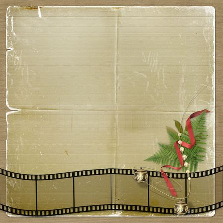 The old grunge postcard. Congratulation to Christmas or New year Stock Photo - 3731104