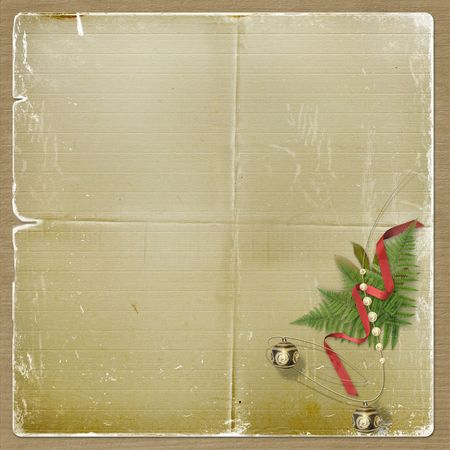 The old grunge postcard. Congratulation to Christmas or New year Stock Photo - 3731108